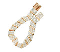 Vintage 1960s Three Row Cultured Pearl Bracelet