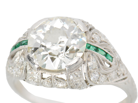 Out of this World 2.86 ct Diamond Emerald Ring