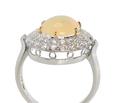 Elegance in an Opal Diamond Ring