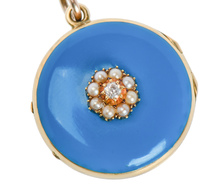 Victorian Intimacy - Enamel Locket