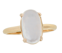 Vintage Solitaire Blue Moonstone Ring