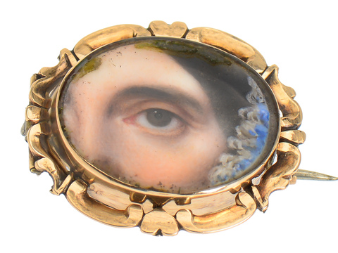 Lover's Eye Brooch Authentic & Antique