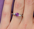Mid-20th C. No Heat Pink Sapphire Ring