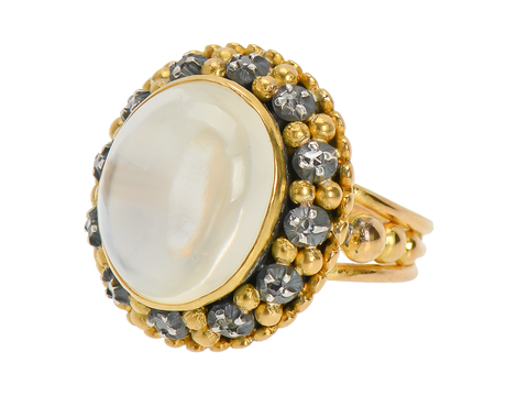 Inner Light Moonstone Diamond Ring