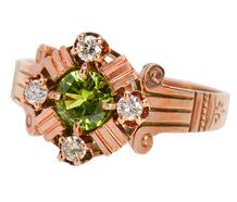 Shades of Victoria - Peridot Diamond Ring