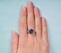 Estate Black Opal & Diamond Ring