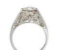 Art Deco Diamond Solitaire Ring - Intricate Filigree