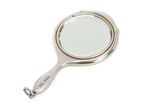 Art Deco Guilloche Enamel Mirror Pendant