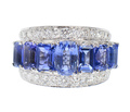 Sapphire Diamond Estate Ring - Contrasted Beauty