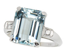 Cool Breeze - Estate Aquamarine Diamond Ring