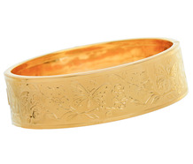 Butterfly & Flower Wide Estate Bangle