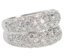 Estate Double Diamond Dome Ring 3.4 Carats