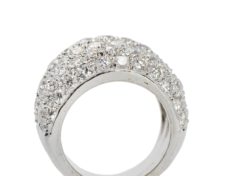 Estate Double Diamond Dome Ring 3.4 Carats