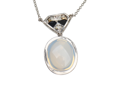Art Deco Blue Moonstone Vintage Pendant