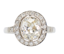 Promises - Old Oval Cut Diamond Engagement Ring