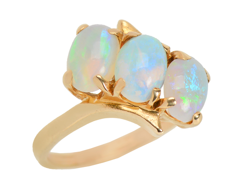 Discovery – White Opal Estate Ring