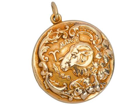 Sloan & Co. Aries Zodiac Locket