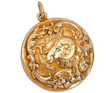 Sloan & Co. Aries Zodiac Locket