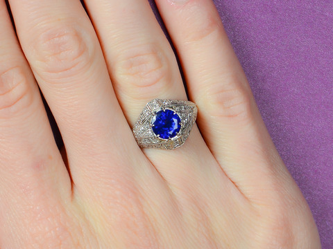 Breathless Sapphire Diamond Engagement Ring