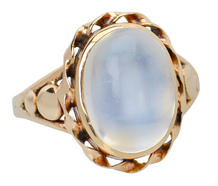 Edwardian Ethereal Blue Moonstone Ring