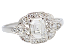 Superb Asscher Cut Diamond Engagement Ring