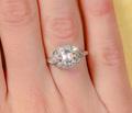 Superb Asscher Cut Diamond Engagement Ring