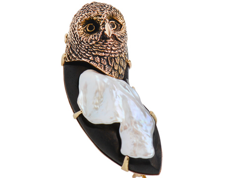 Who's Wise? Edwardian Owl Pendant
