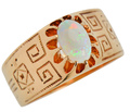 Ode to the Sun - Vintage Opal Ring
