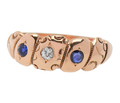Antique Sapphire Rose Gold Ring