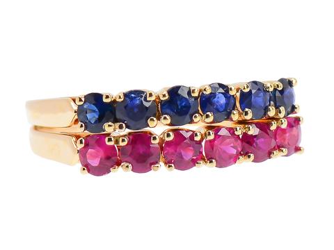Versatility Ruby Sapphire Estate Wedding Ring