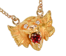 Lion's Roar – Antique Bejeweled Necklace