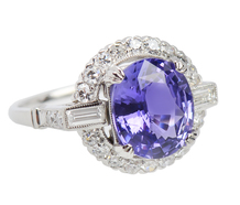 Color Shift No Heat Purple Sapphire Ring