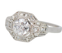 Superb F Color Diamond Engagement Ring