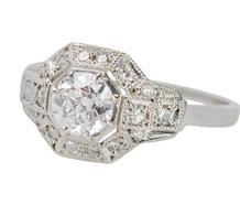 Superb F Color Diamond Engagement Ring