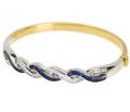 Italian Diamond Sapphire Estate Bracelet