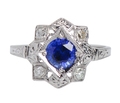 Estate Sapphire Engagement Ring Extraordinaire