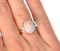 Flamboyant Vintage Opal Diamond Ring