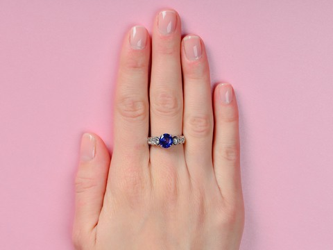 Blue Skies Sapphire Diamond Engagement Ring