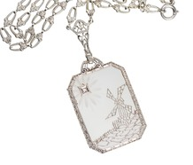 Windward - Art Deco Rock Crystal Necklace