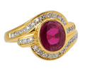 With a Twist – Ruby Diamond Ring