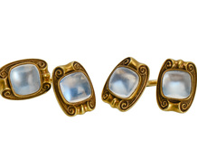 Art Nouveau Moonstone Cufflinks - On the Cuff