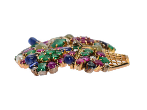 Estate Giardinetti Brooch of Jewels