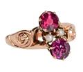 Jones & Woodland Garnet Vintage Ring