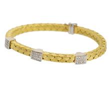 Luxe Estate Italian Woven Gold Bracelet