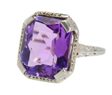 Art Deco Amethyst Ring - Vintage Passion