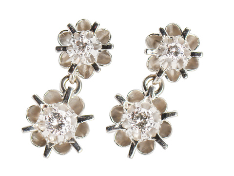 Buttercup Diamond Drop Estate Earrings