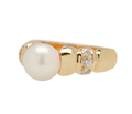 Pearl Perfection - Estate Diamond Ring