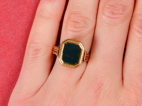 Ornate Bloodstone Estate Ring