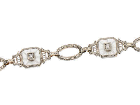 Krementz Diamond Rock Crystal Bracelet