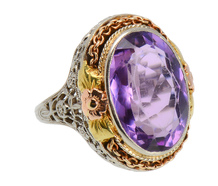Blossoming – Art Deco Amethyst Ring